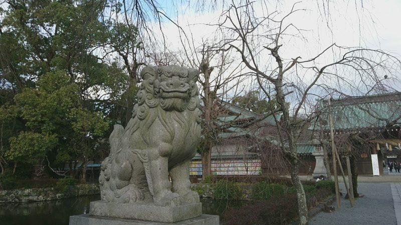 三嶋大社の狛犬吽形