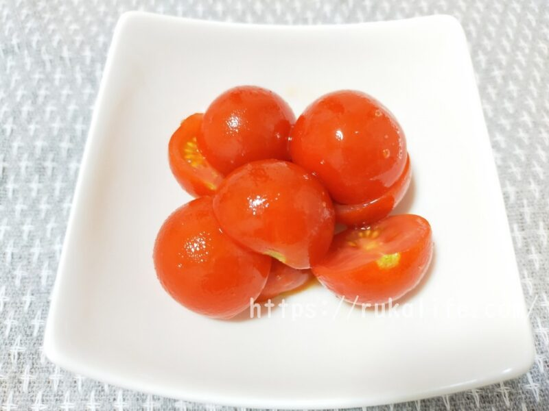 オイシックスのフルティカトマトで塩トマトを作った写真